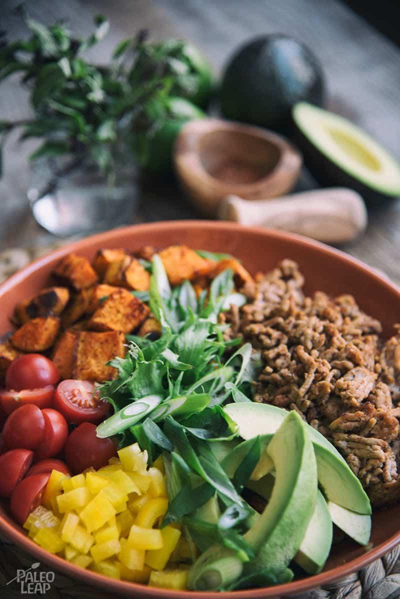 Salada de Taco de Batata e Carne