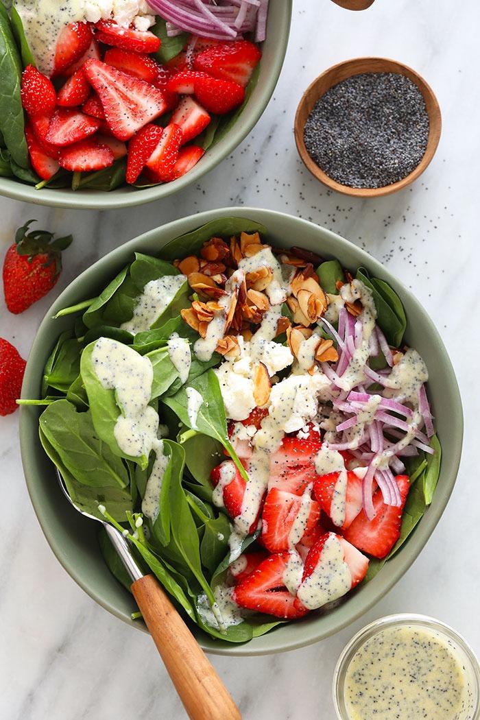 Salada de Morangos e Espinafre