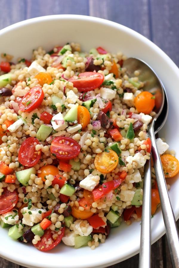 Salada Israelita com Couscous e Vegetais