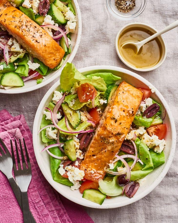 Salada Salmão Grega