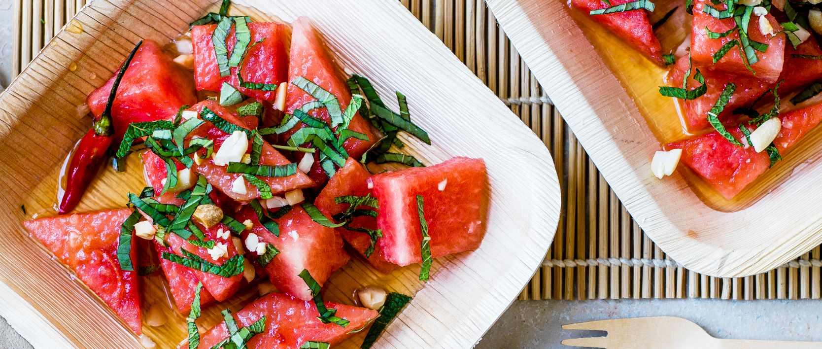 Salada de Melancia Thai