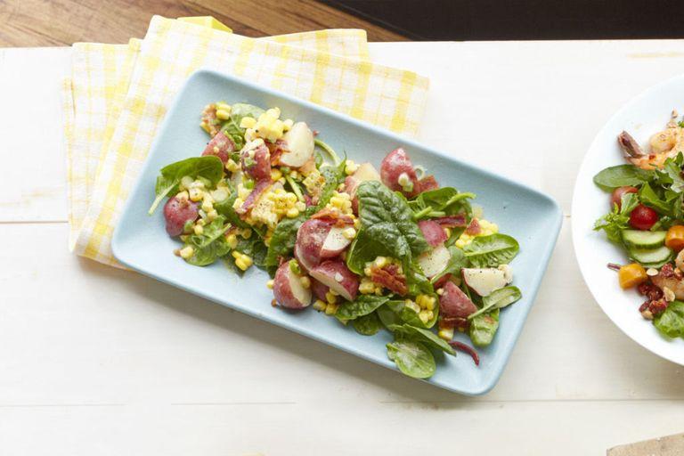 Salada de Espinafre, Batata e Milho