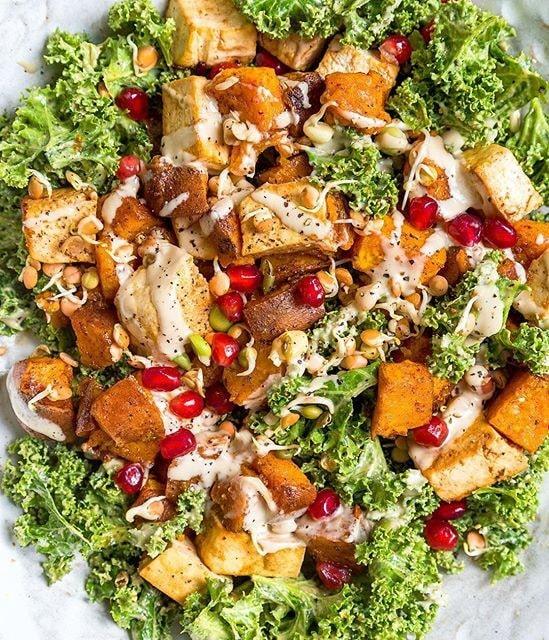 Salada de Kale e Tofu