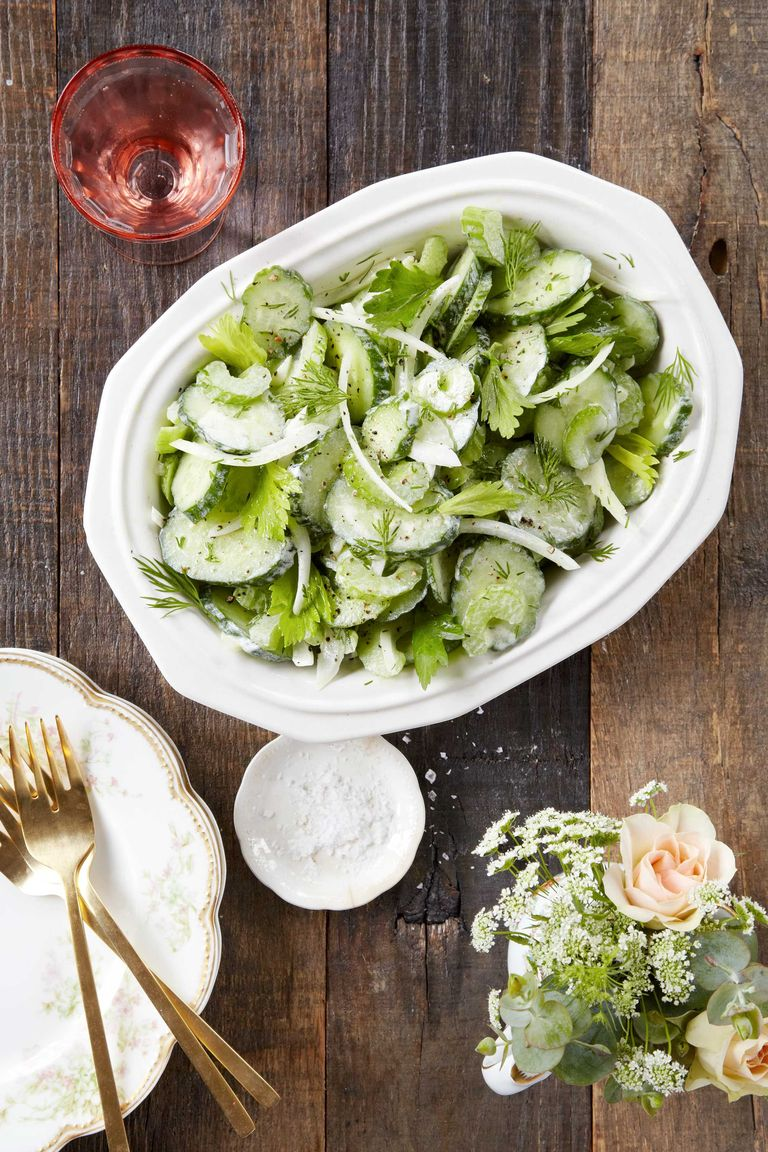 Salada de Pepino, Aipo e Cebola
