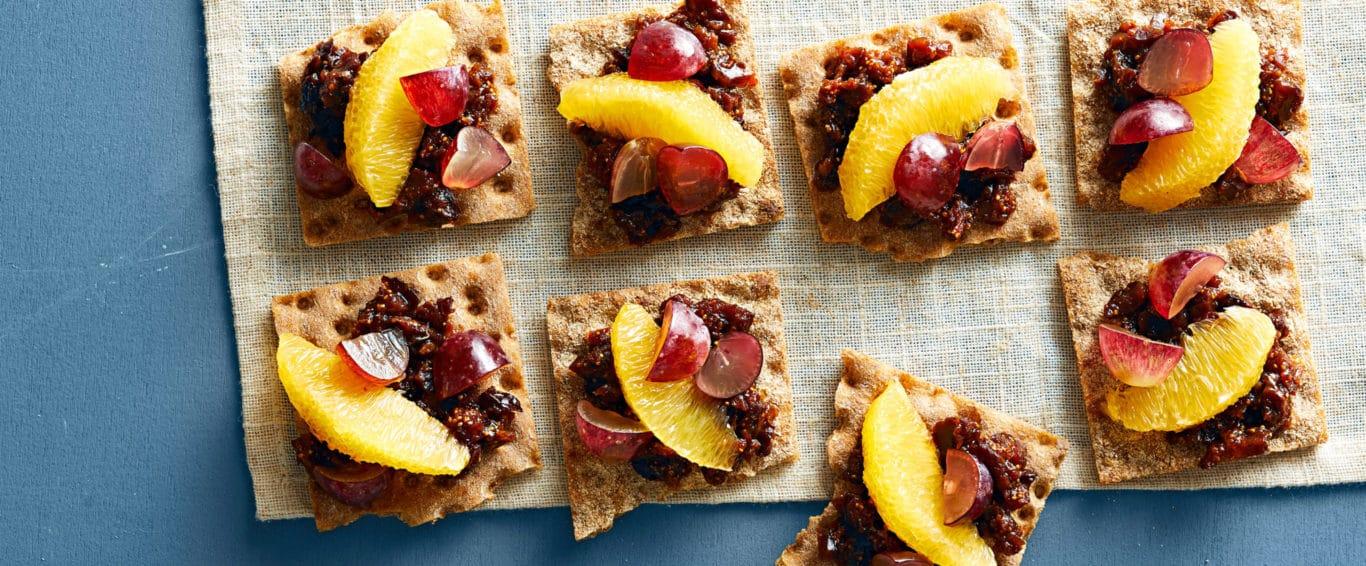 Crackers com Figo e Uva