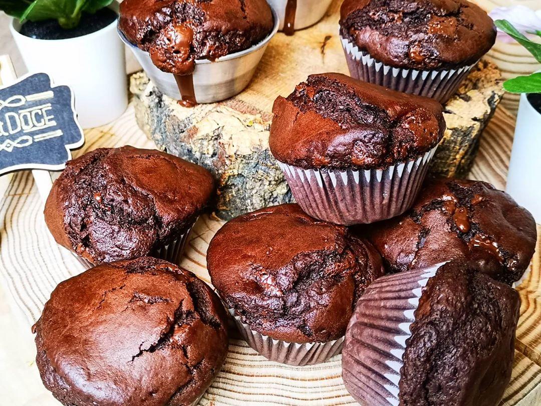 Muffins de cacau