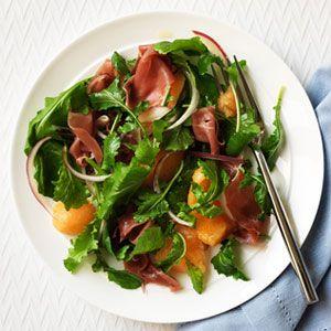 Salada de Rúcula, Melão e Presunto