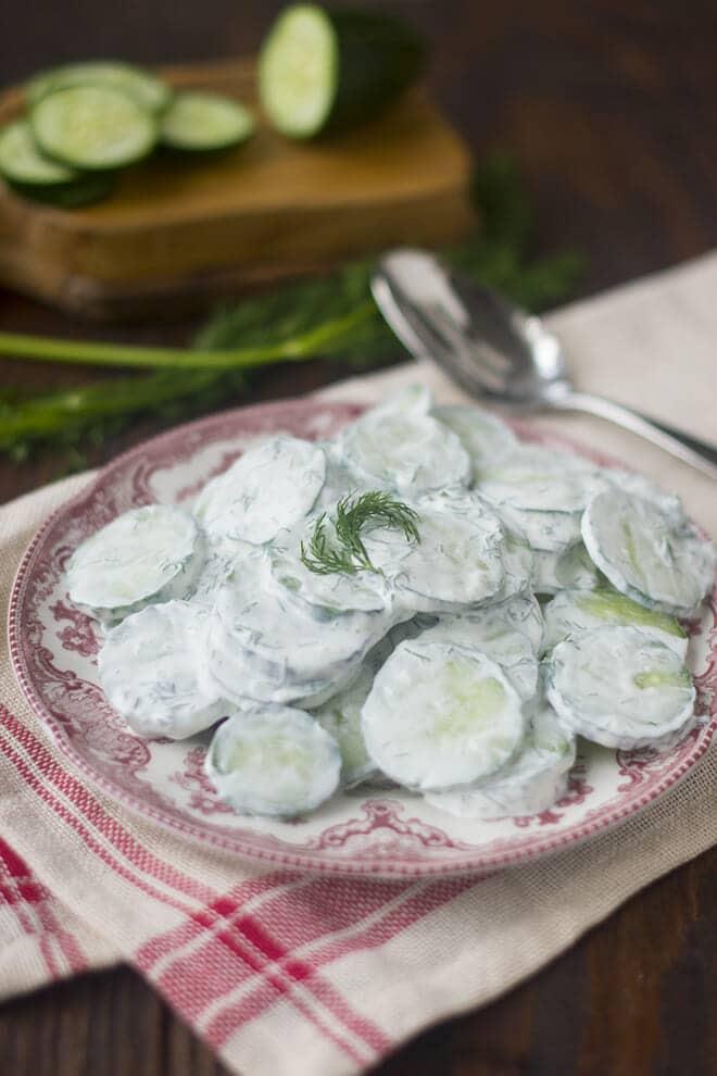 Salada de Pepino e Funcho