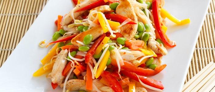 Salada de Frango e Veggies