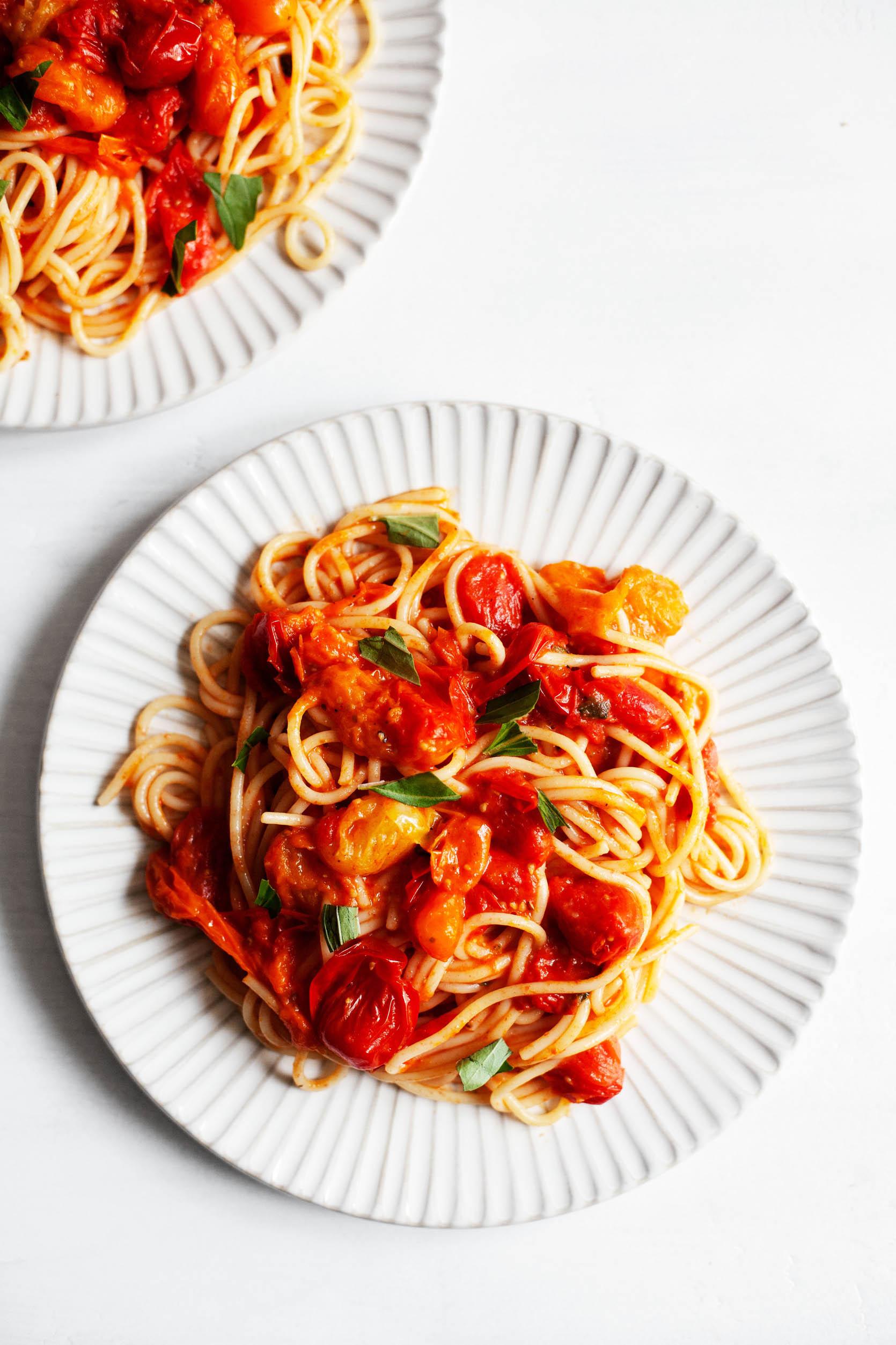 Esparguete com Tomate Cherry