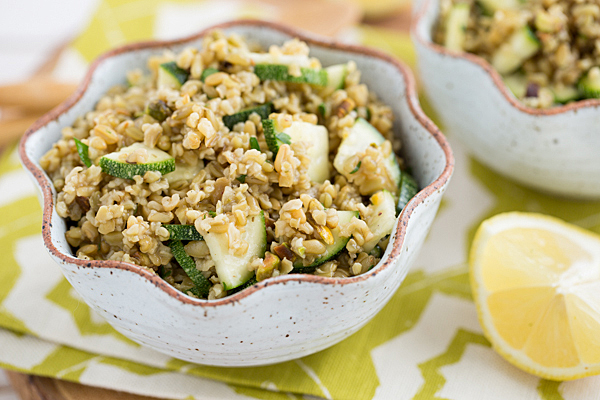 Salada de Pistáchio e Courgette