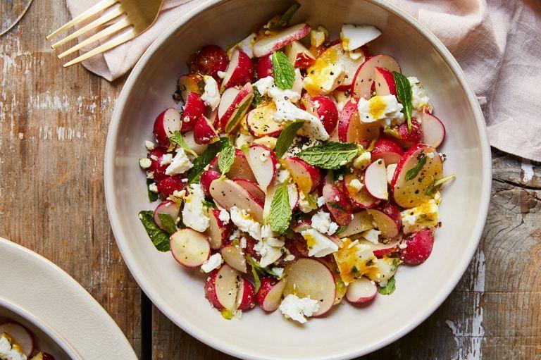 Salada de Rabanetes com Molho de Laranja e Caril
