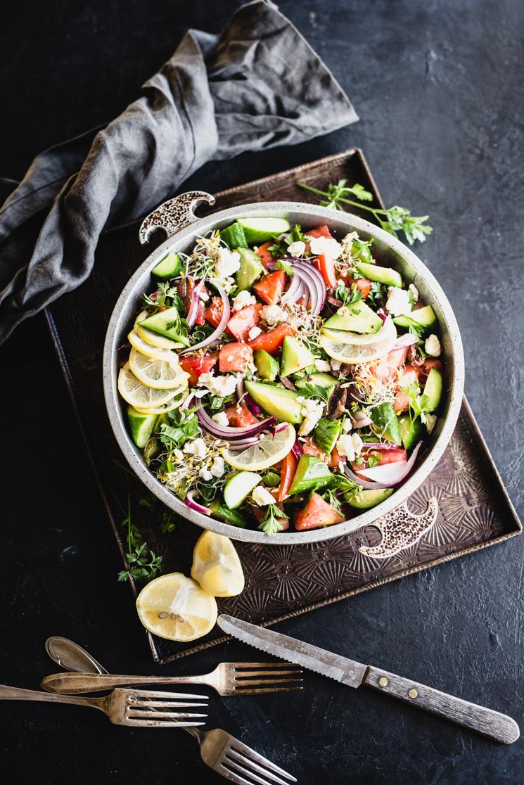 Salada Grega Simples