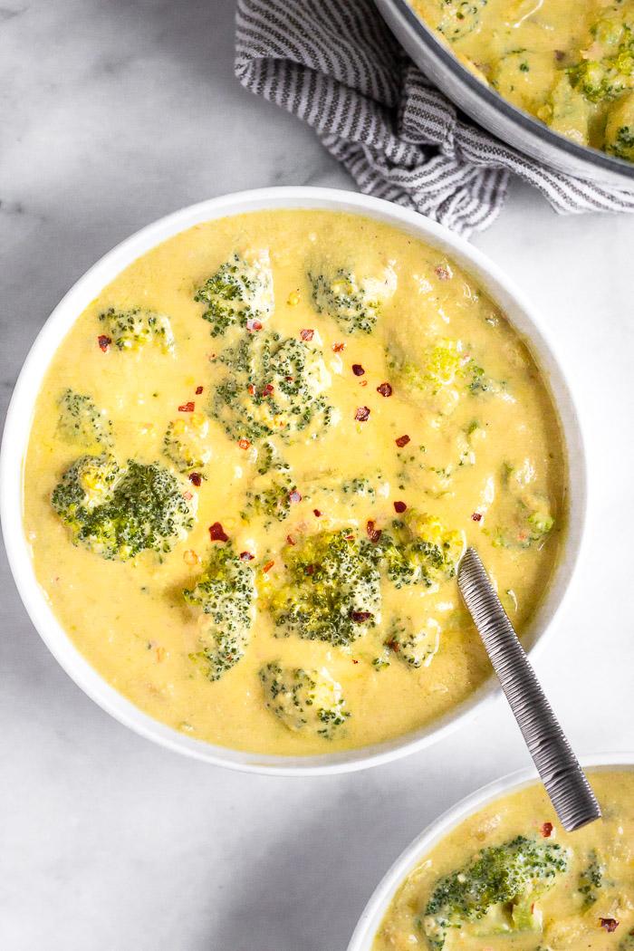 Sopa Vegan de Brócolos