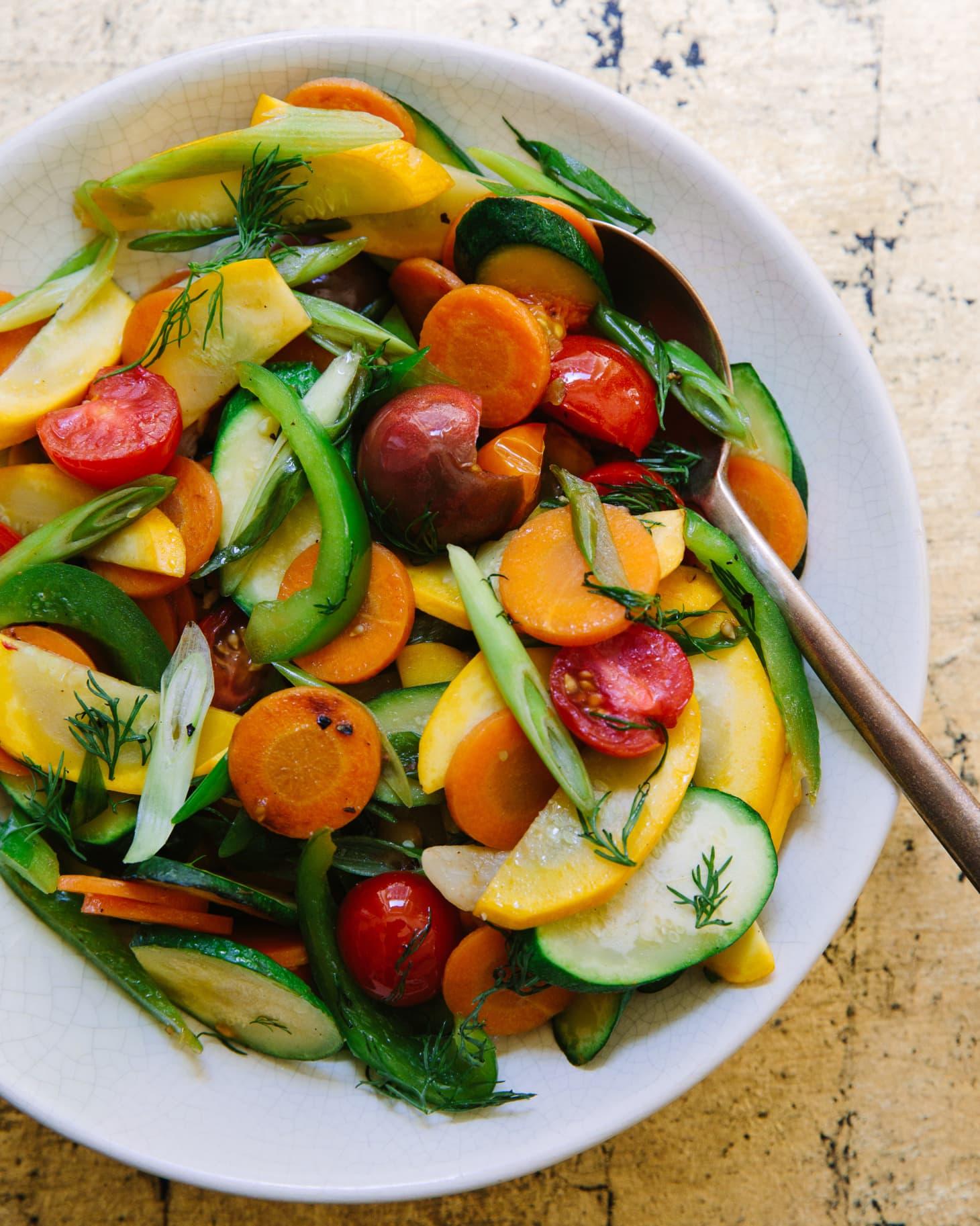 Legumes Salteados com Limão e Funcho